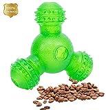 Laukowind Interactive Dog Treat Ball Toys, IQ Treat Dog Chew Toys 3 Holes