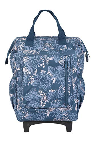 "Mountain Warehouse Juniper 28L Rucksack Wheelie Bag - Padded 15"" Laptop Compartment, Concealable Straps, Lockable Zips, Carry On Hand Luggage Navy"