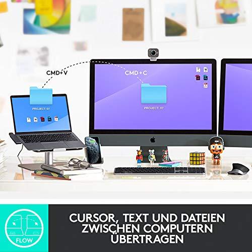 Logitech MX Master 3 – Die fortschrittliche, kabellose Maus für Mac, Ultraschnelles Scrollen, ergonomisches Design, 4.000 DPI, individualisierbar, USB-C, Bluetooth, für MacBook und iPad, Grau - 7
