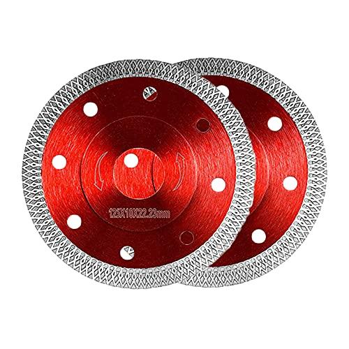 Yaclonq Diamant-Trennscheibe Fliese Feinsteinzeug 125 mm x 22,23 mm 125mm für Fliesen, Granit uvm. (für Winkelschleifer Ø 125x22,23)