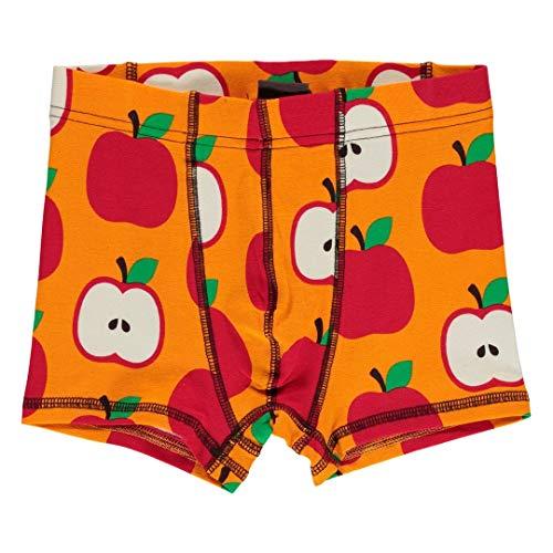maxomorra Jungen Boxershorts/Unterhose mit Äpfeln Größe 110/116