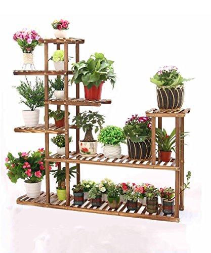 KKCFHUAJIA Etagère De Fleur Bois Massif Plante de Plancher Plante Plante de Fleurs Plateau de Fleurs pour Balcon Salon Intérieur (Taille : A)