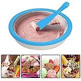 SDstore DIY Ice Cream Maker, Instant Ice Cream Maker Yogurt Frozen Pan Sorbet,Gelato, Ice Roll Time Pan- Family Fun