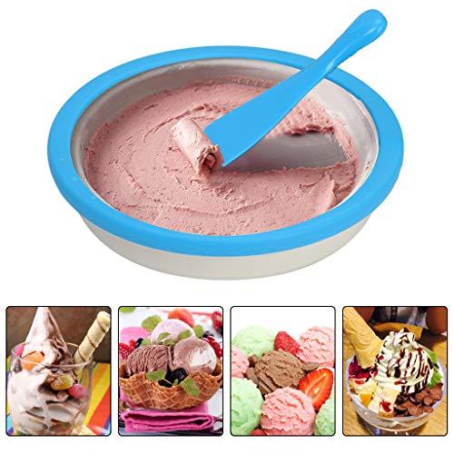 Review Of Ice Cream Maker, SIN+MON Instant Ice Cream Maker Yogurt Frozen Sorbet Gelato Maker Pan Ice...
