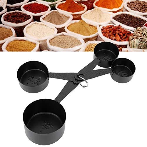 BOLORAMO Cuchara medidora, Taza medidora de Acero Inoxidable con Hebilla de Anillo Desmontable para el hogar para la Cocina