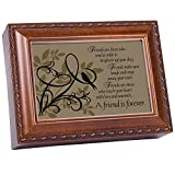 Cottage Garden A Friend Is Forever Woodgrain Music Box/Jewelry Box Plays Thats What Friends Are For