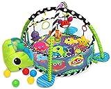 COIL Kinder Krabbeldecke mit Spielbogen und Bllen Spielmatte 30 Bllen (Schildkrte)
