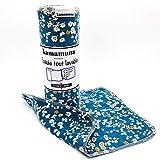 Rollo de pañuelos de tela 100% franela de algodón, lavable, reutilizable, 12 hojas grandes, absorbente, suave, resistente, económico