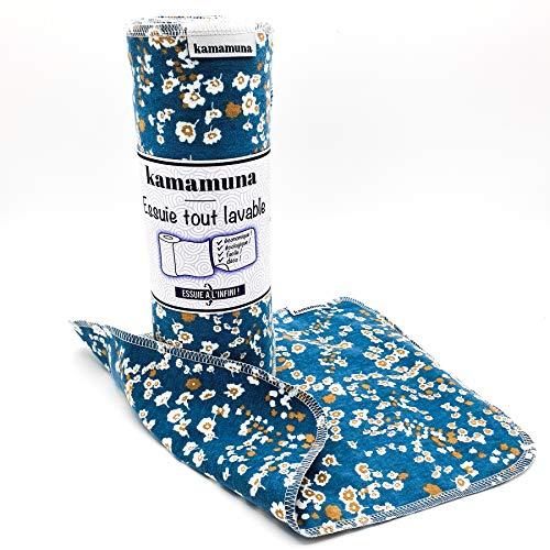 Rouleau d'essuie tout écologique, lavable, réutilisable, tissu 100% flanelle de coton, 12 grandes feuilles, absorbant, doux, résistant, économique