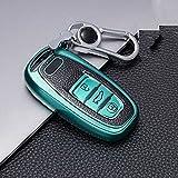 ZIMAwd Carcasa Protectora de Cuero TPU para Llave de Coche, Apto para Audi A1 A3 A4 A5 A6 A7 A8 Quattro Q3 Q5 Q7 2009 2010 2011 2012 2013 2014 2015