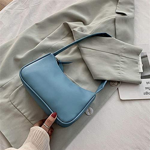 L-sister Bolsas retro para mujer Voguish Vintage bolso Distaff pequeñas bolsas subaxilares ocasionales retro mini bolso de hombro estilo único (color: bolso azul, tamaño: XL)