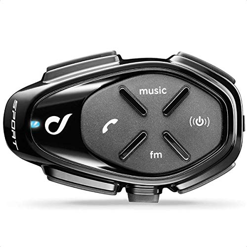 INTERPHONE INTERPHOSPORT Bluetooth Auriculares Manos Libres para Casco Moto Single, Negro