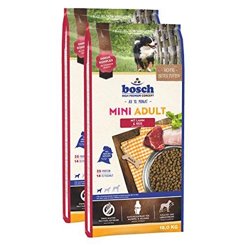 bosch Hundefutter Verschiedene Sorten 2x15kg Mini Adult Lamm & Reis