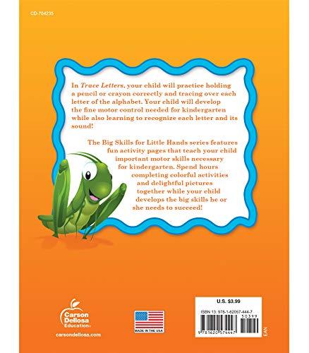 Big Skills for Little Hands® Trace Letters Workbook—Alphabet, Letters, Sounds, Handwriting Practice, Tracing Activity Book for Preschool–Kindergarten (32 pgs)