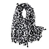 VALICLUD Bufandas de moda para mujer, de gran tamaño, con estampado de leopardo, animales gris M