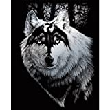 ROYAL BRUSH Silver Foil Engraving Art Kit, 8 by 10-Inch, Dragon Wolf