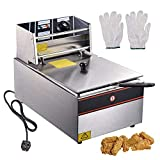 ReaseJoy 6L 2500W Commercial Electric Deep Fryer Countertop Stainless Steel Single Tank with Lid Basket Home Restaurant