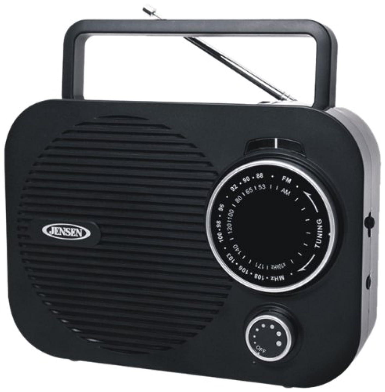 思いやりのあるぴったり刻むPortable AM/FM radio (Black) w/ Aux jack
