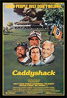 Buyartforless IF PW 50830 1.25 Black Plexi Framed Caddyshack 1980 36X24 Movie Art Print Poster Comedy Classic Chevy Chase Rodney Dangerfield Ted Knight Michael O'Keefe Bill Murray