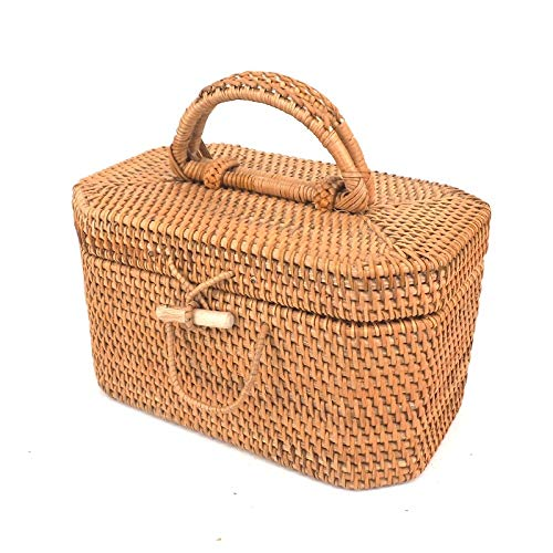 ANHUE Picknickkorb, Tee-Set Ablagekorb Picknickkorb Besteckkorb Reise Picknickkorb Haushalt Ablagekorb 27 * 17 * 16 cm (Size : 27 * 17 * 16CM)