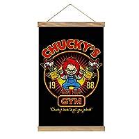 Chucky's Back タペストリー 掛け画 壁飾り キャンバス 巻物 アートポスター 多機能 部屋飾り 掛け軸 掛け棒 リビングルーム ベッドルーム 新築祝い 個性プレゼント