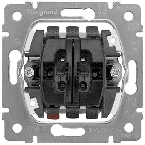 Legrand 775814 Pulsador Doble para Persianas Galea Life, 10 A - 230 V - 50/60 Hz