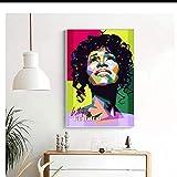 GIRDSS Whitney Houston Classic Singer Star Malerei Poster