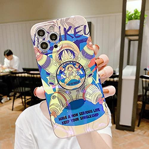 Anime One Piece Comic Soft Phone Case para iPhone 6 6S 7 8 Plus X XR XS Max 11 12 Pro Max Mini SE 2020 Luffy Zoro Chopper Sanji Cartoon Cover -A_For_iphone_12Pro
