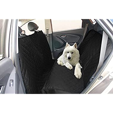 iCOVER Dog car seat Cover,Rear Seat Cover for Car,Pet Seat Cover for SUVs,Mini Van, Bench Seat Covers,Quilted,Waterproof Washable Dog Seat Cover Nonslip,Extra Long Hammock Style Seat Cover PSC21503