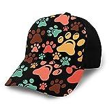 Mark Stars - Gorra de béisbol ajustable con diseño de huellas de huellas coloridas para hombre y mujer