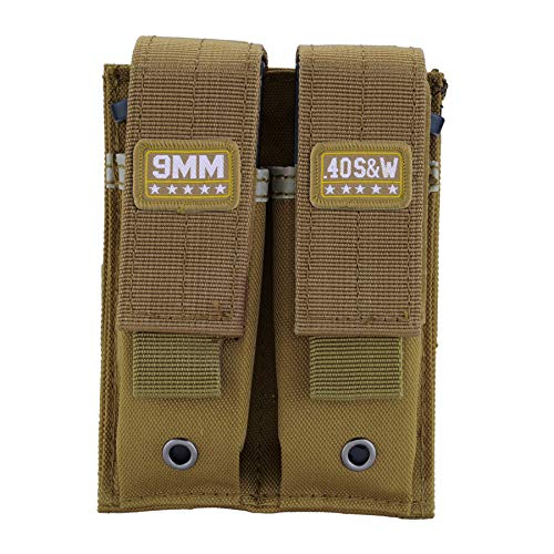 Raiseek Molle Double Pistol Mag Pouch Single and Double Stack Magazine Holster