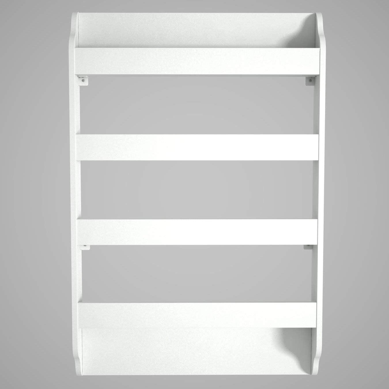 Alphamoebel Estantería de Madera Blanca 80 x 120 x 12 cm ...