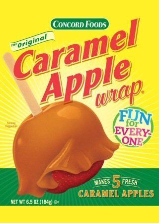 Concord Caramel Apple Wrap 6.05 Oz Package (Value 6 Pack - Makes 30 Fresh Caramel Apples)