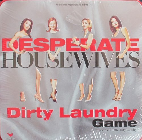 Cardinal DESPERATE HOUSEWIVES DIRTY LAUNDRY Game w TIN Case (2005) by Cardinal Industries