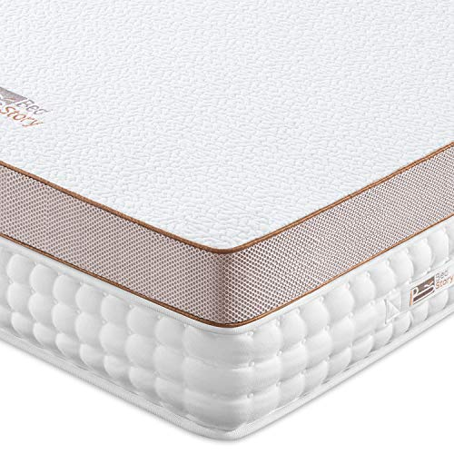 BedStory 7.6cm Gel Memory Foam Topper 90x200 Matratzentopper, Visco-Gelschaum Matratzenauflage für unbequemem Betten/Boxspringbett unbequemes Schlafsofa