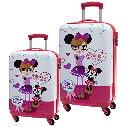 Disney Minnie Fan Set de Bagages, 68 cm, 97 L, Blanc