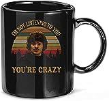 N\A No te Estoy Escuchando Estás Loco Vintage Retro Nacho Libre Película Tazas de café de cerámica T...