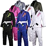 Hawk Kids Brazilian Jiu Jitsu Suit Youth Children BJJ Gi Kimonos, Black, Size K3