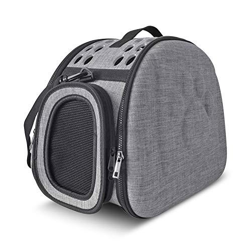 PETCUTE Hundetasche Katzentragetasche Haustiertragetasche Transporttasche Reisen Transportbox für Welpen Hunde Katze Kleine Tiere Atmungsaktiv Faltbar mit Schultergurt weiche Seitenteile
