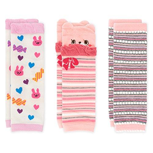 Ateid Ateid Baby Kinder Stulpen Beinstulpen aus Baumwolle 3er-Pack