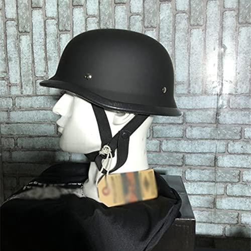 TYYCKJ Adultos Cascos De Moto De Cara Retro Medio Jet Casco para Mujer Y Hombre Casco Medio Cubierto Casco De Seguridad para Todas Las Estaciones Abierto Casco De Protección Carcasa del Casco