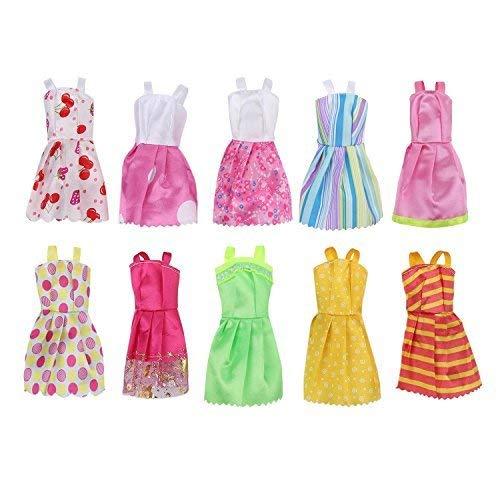 Boheng Accesorios para muñecas Vestido de Barbie Vestido de Princesa Vestido Colgante Falda Corta Juego de muñecas Paquete de 10 Disfraces de Fiesta Accesorios para muñecas 29cm11 Pulgadas
