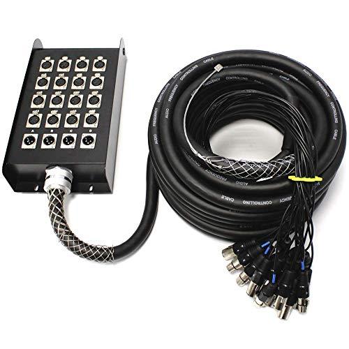 Cablematic - Caja de extensión cable DMX DMX512 de 20 canales XLR3...