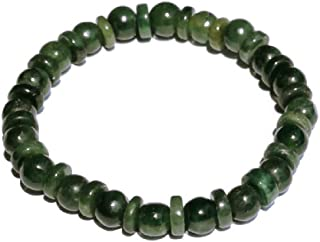 Lucky Green Myanmar Jade Amulet Bracelet Good Fortune,Wealth and Healthy