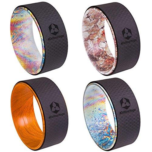 Rueda de yoga »Giada« en distintos diseños de grafiti, para mejorar la flexibilidad durante la práctica del yoga. Accesorio de yoga ideal (en inglés: yoga wheel) para aumentar la intensidad en las asanas más complicadas / peso máximo aprox. 120 kg / Diámetro aprox. 33 cm / Estilo (3)