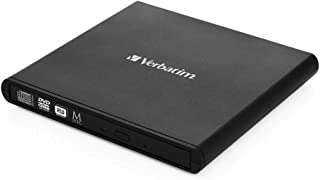 Verbatim 98938 External Slimline Mobile CD/DVD Writer,External Slimline Mobile CD/DVD Writer,Black