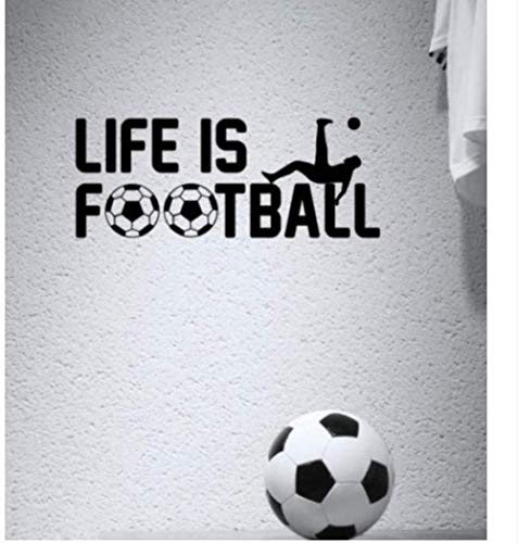 Art Wallpaper Life is Football Calcio Sport Cameretta Per Bambini Muro Citazione Vinile Art Adesivo Cool Graphic 74 30 Cm Moda Wall Sticker Mural