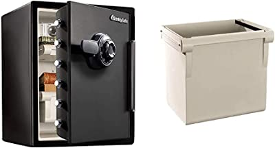 SentrySafe SFW205CWB Fireproof Waterproof Safe with Dial Combination, 2.05 Cubic Feet, Black & 917 File Organizer Accessory, For SFW205 Fire Safes