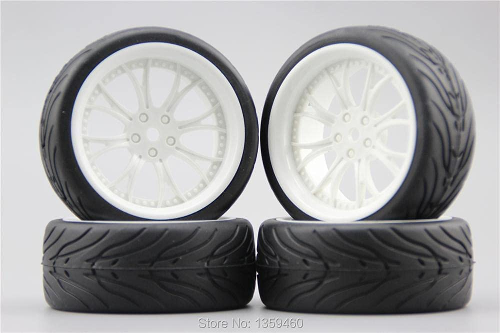 GzxLaY 4pcs 1 10 Soft Sales of SALE items from new works Rubber On Tire WDY Road Branded goods Tyre Car Rim Wheel