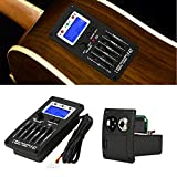 Tbest Guitar Preamp,Guitar Preamp Equalizer Digital Tuner,F-5T 5Band Equalizer Pickup,Digital Tuner Pickup Acoustic Electric Guitar Preamplifier Tuner with LCD Tuner and Volume Control